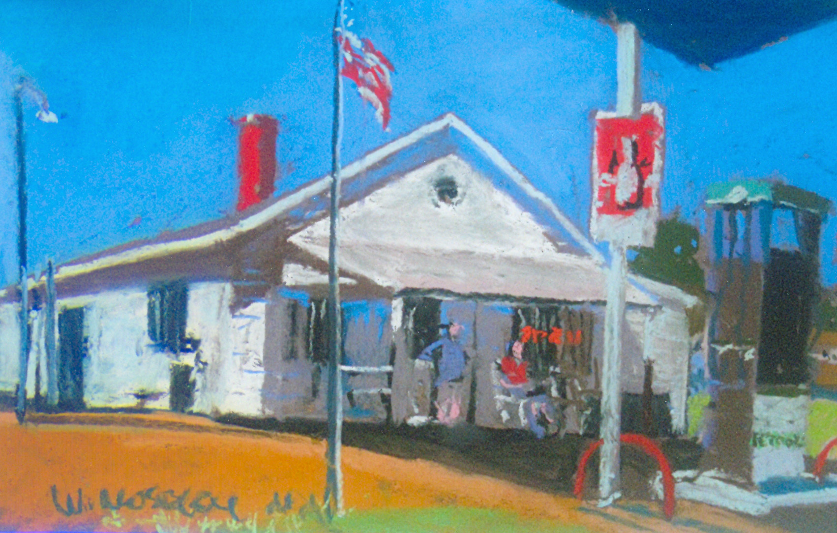 Country stores like Ebony General captured in this painting by Bill Moseley still serve as important pillars of the community.