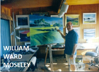 Native to the area, artist Bill Moseley calls Lake Gaston home half the year and welcomes visitors to his studio.
